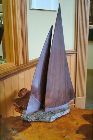 Cocobolo Sailboat